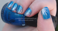Blue with silver spikes