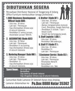 Lowongan Kerja Terbaru DESEMBER 2015 di Lampung