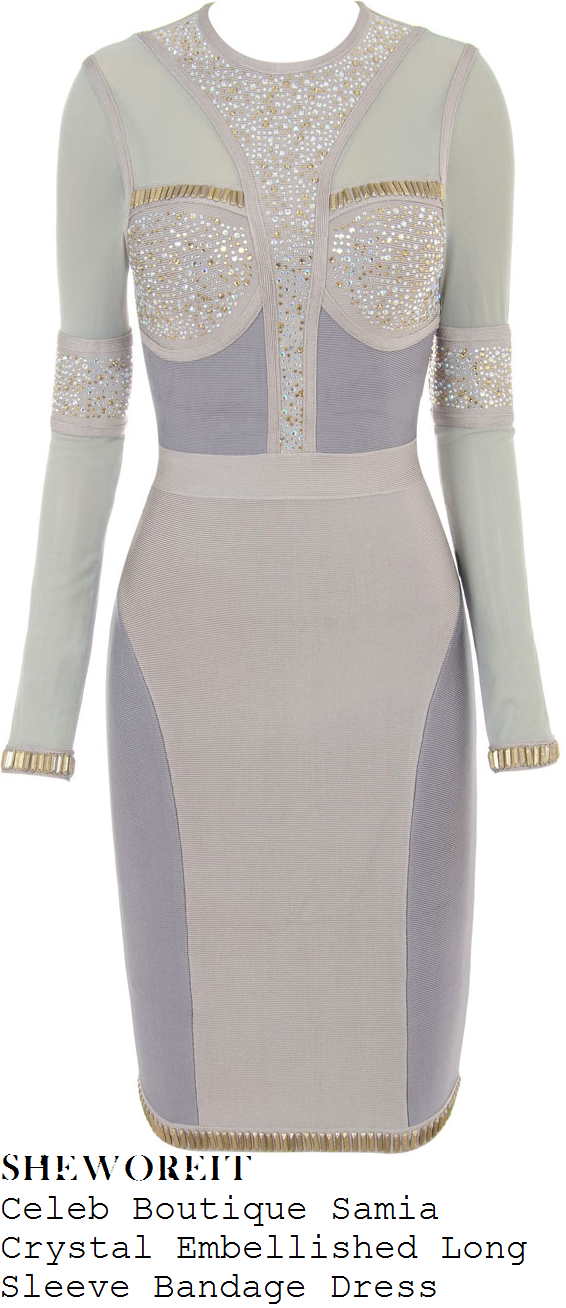 brooke-vincent-grey-long-sleeve-embellished-dress