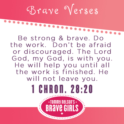 Be #strong and #courageous #tommymommy #bravegirls