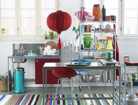[A colorful and lively kitchen with a lot of bright details]