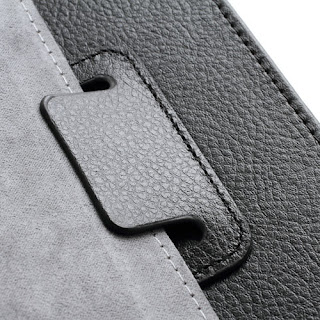 Leather Case Cover for Lenovo IdeaTab A1000 - Black