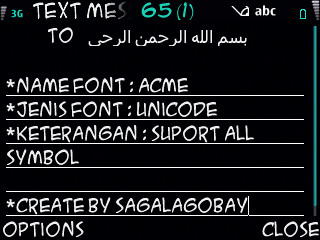 FREE Download Font Unicode Nokia E63 Suport Semua Symbol
