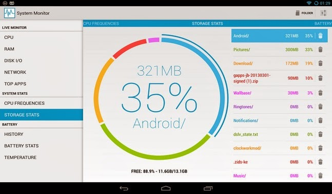 System Monitor android apk - Screenshoot