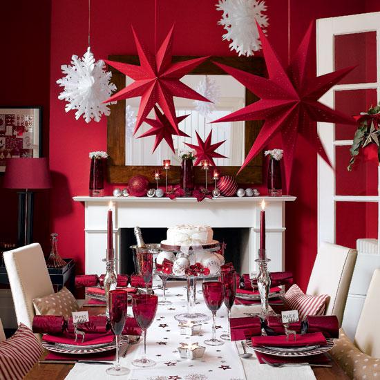 decoration couleur bordeau table fete