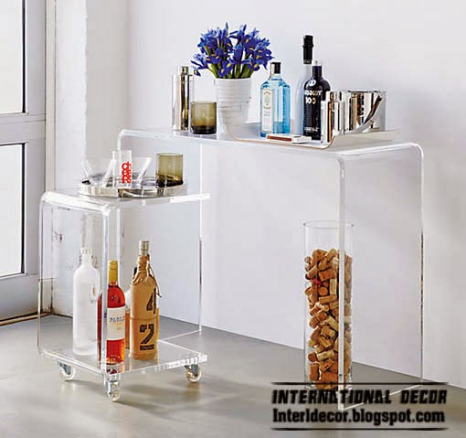 console with basket, Bar cabinets and Wine racks for modern home