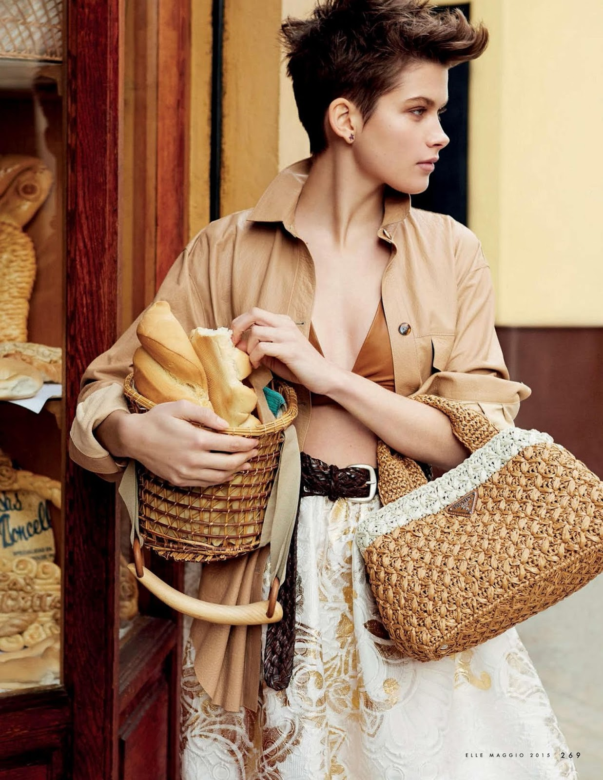 Benthe de Vries in La creativa / Elle Italia May 2015 (photography: Michael Sanders, styling: Benedetta Dell'Orto) via fashioned by love british fashion blog