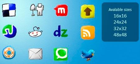 210+ Handy Drawn Social Media Icons Set Download
