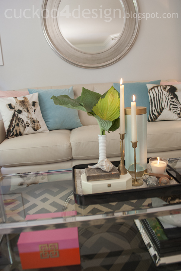 H&M zebra and giraffe pillow in summer living room by cuckoo4design
