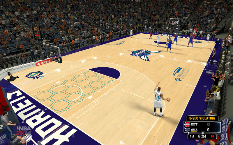 NBA 2K14 Charlotte Hornets Concept Court Mod