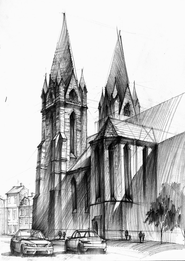 22-Imaginary-Cathedral-Łukasz-Gać-DOMIN-Poznan-Architectural-Drawings-of-Historic-Buildings-www-designstack-co