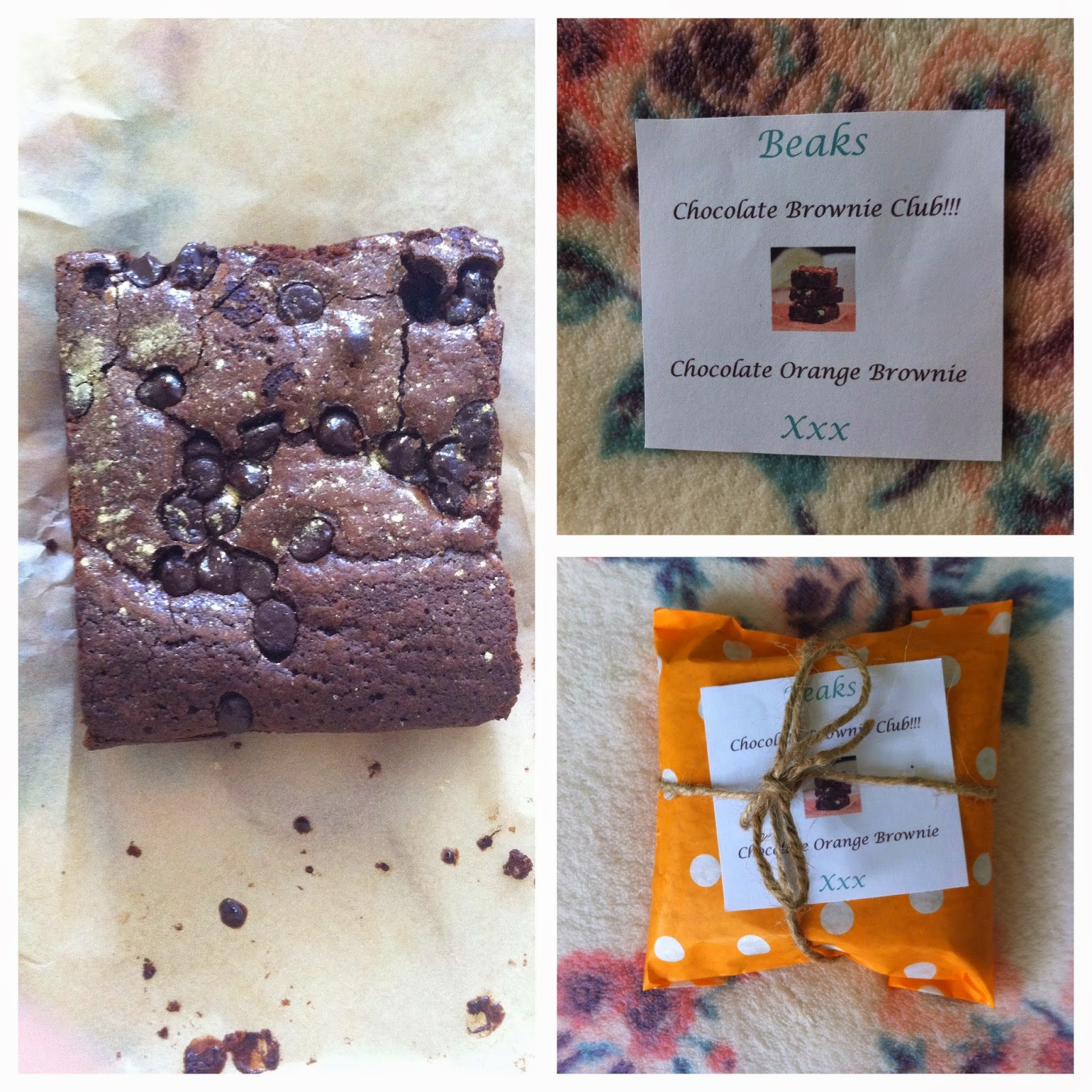Instagram Update Orange Chocolate Brownies