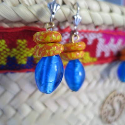 photo solamante glass beads earring
