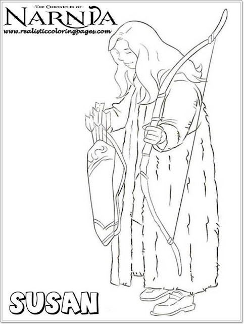 Susan Chronicles Of Narnia Coloring Pages