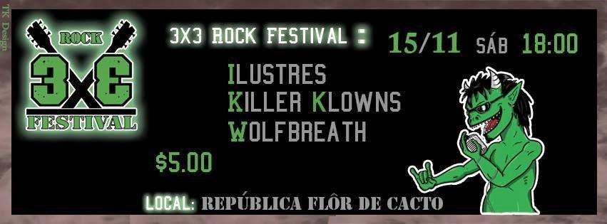 Banner do 3x3 Rock Festival