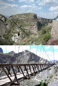 Puente de Ojuela, northwest of the city of Durango, northern Mexico, ghost town, Designed by Roebling brothers