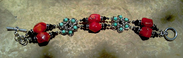 Red Coral and Dyed Howlite