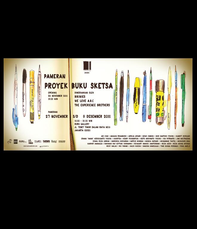 poster proyek buku sketsa 2011