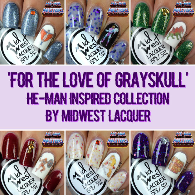 MidWest Lacquer For The Love of Grayskull He-Man Inspired Polish Collection