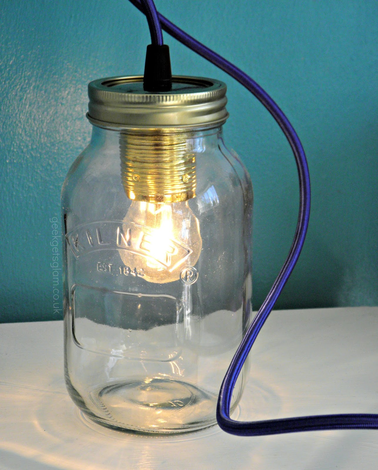 jam jar lamp from jamjar lights