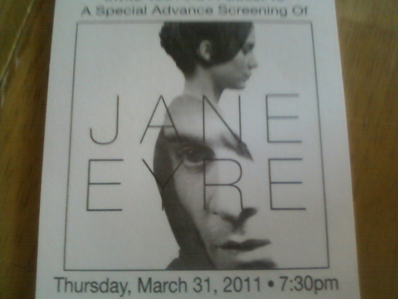 screening of jane eyre