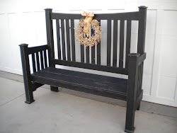 chunky arts and crafts bench...SOLD
