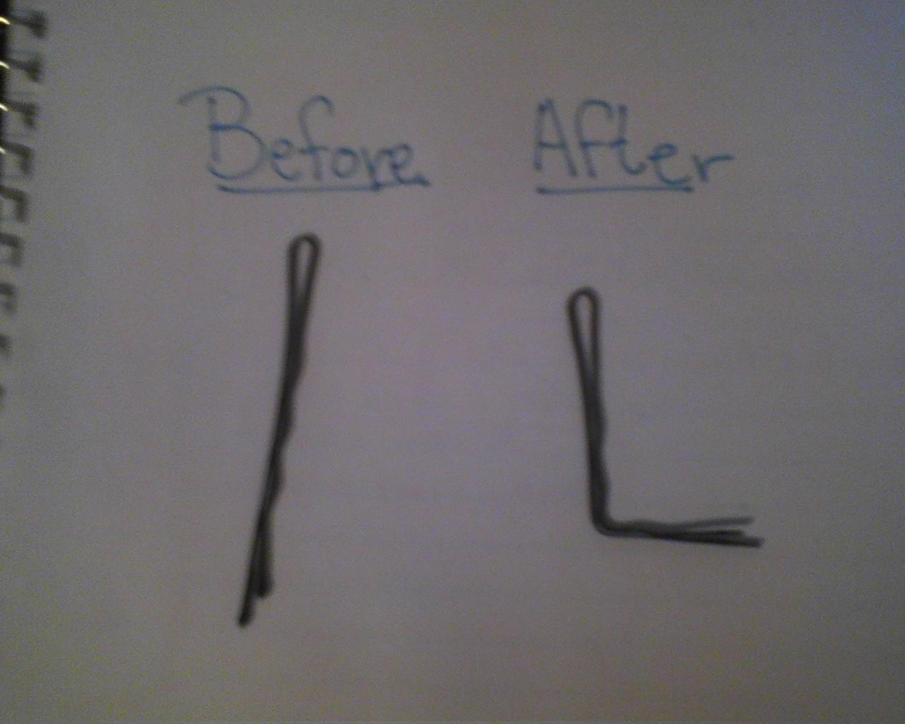 The before and after picture for creating a lock picking tool