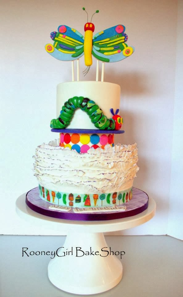 tier the very hungry caterpillar cake