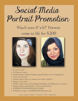 portrait artist, portrait painting, portrait promotion, social media, malinda prudhomme