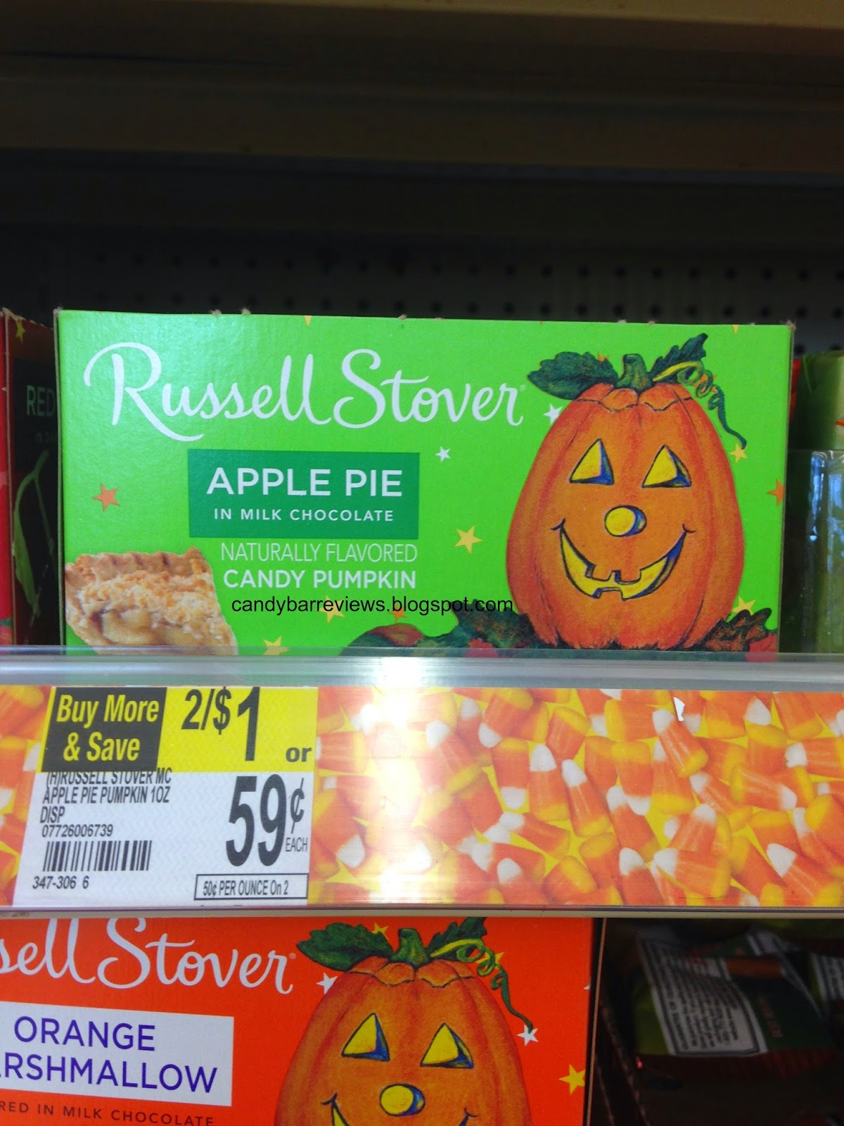 candy bar reviews: candy hunting - new russell stover pumpkins