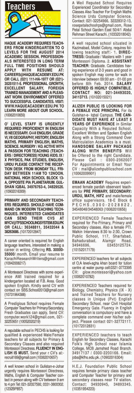Dawn <b>Newspaper</b> Classified Jobs