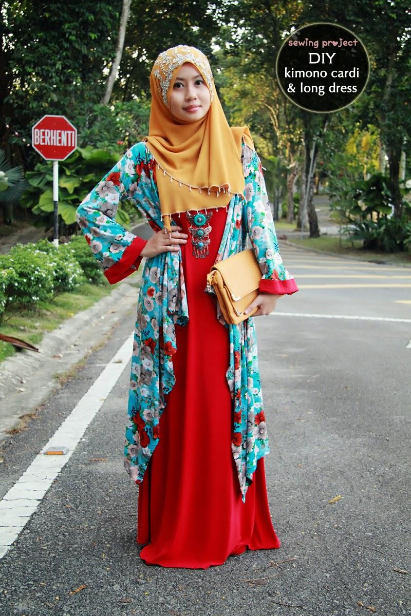 Baju Muslim Terbaru Desain Kimono