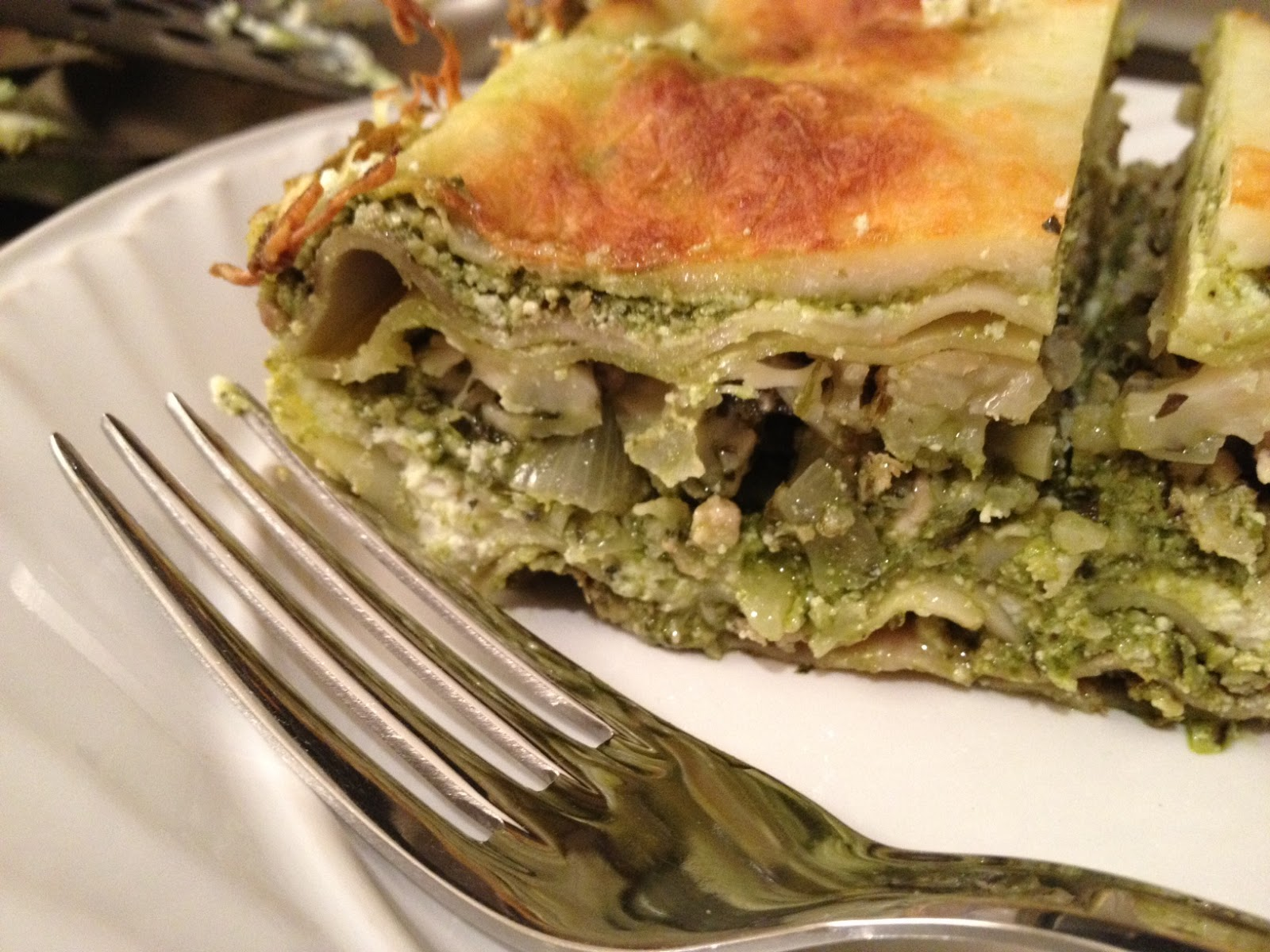 The Full Plate Blog: turkey-cauliflower lasagna made with ...