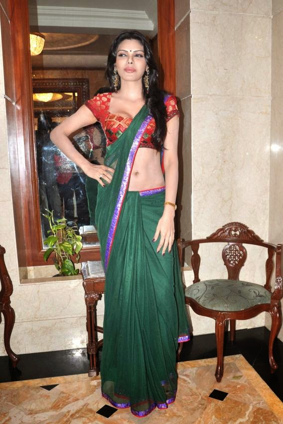 Sherlyn Chopra hot pics in tight saree playboy magazine topless nude photos