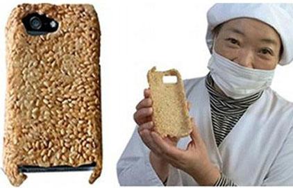 غطاء آي فون من الارز ويمكن أكلة عند الجوع !