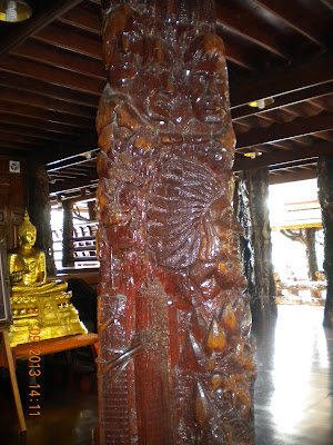 Wat Sangkhathan Nonthaburi วัดสังฆทาน นนทบุรี wood carvings 9/11 Mount Rushmore