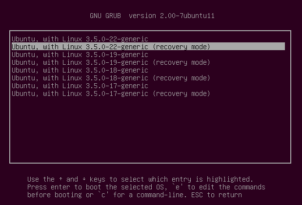 Recover the Login Account in Ubuntu Shell