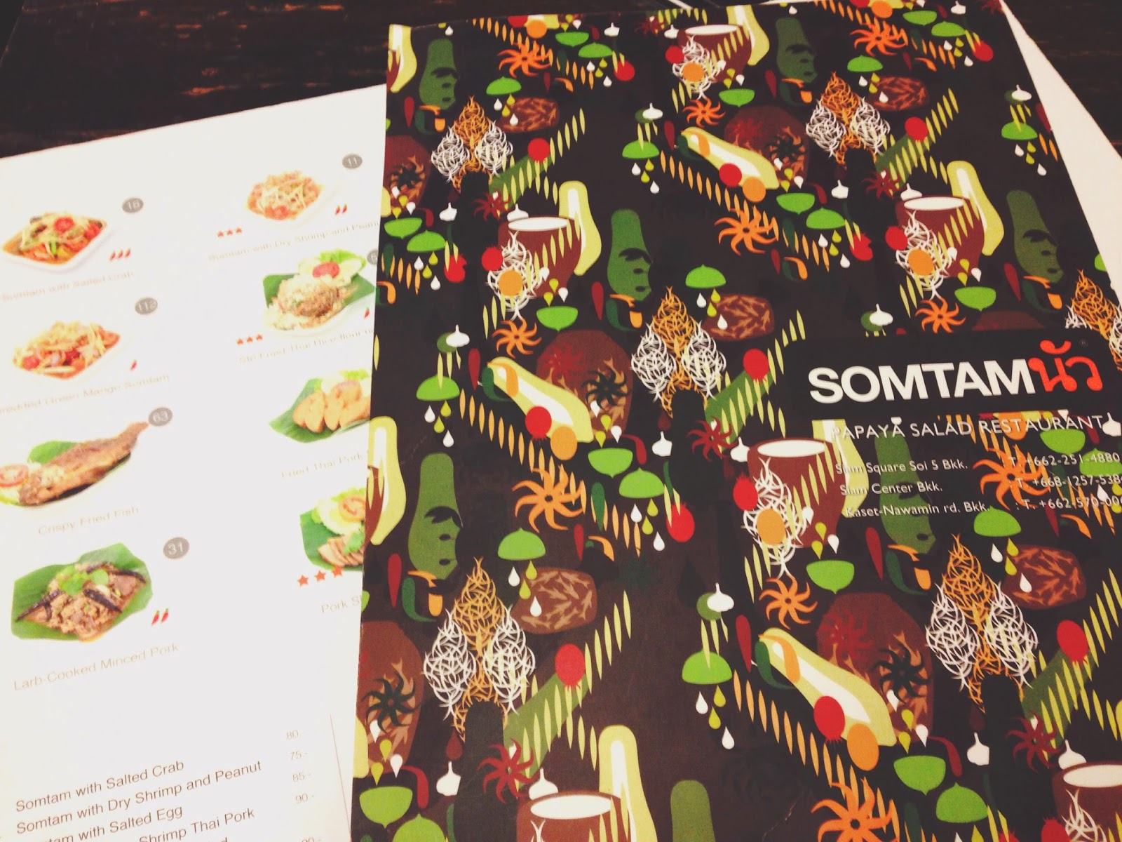 Som Tam Papaya Salad Restaurant Siam Square Bangkok
