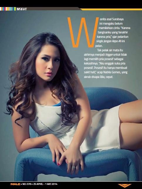 Nabila Gomes For Male Magazine April May  Photoshoot