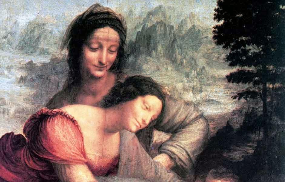 la virgen santa ana y el niño