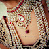 Ruby White Gold New Fashion Jewellery Necklace Set