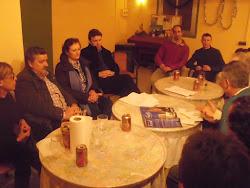 El Colectivo Identitario de Aragón en la reunión para el Homenaje a Rabadá y Navarro