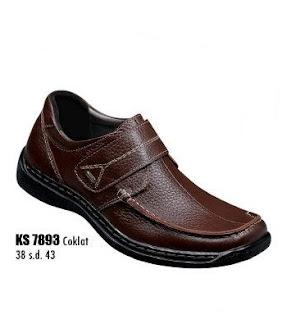 Sepatu kerja pria murah meriah bahan kulit coklat hitam