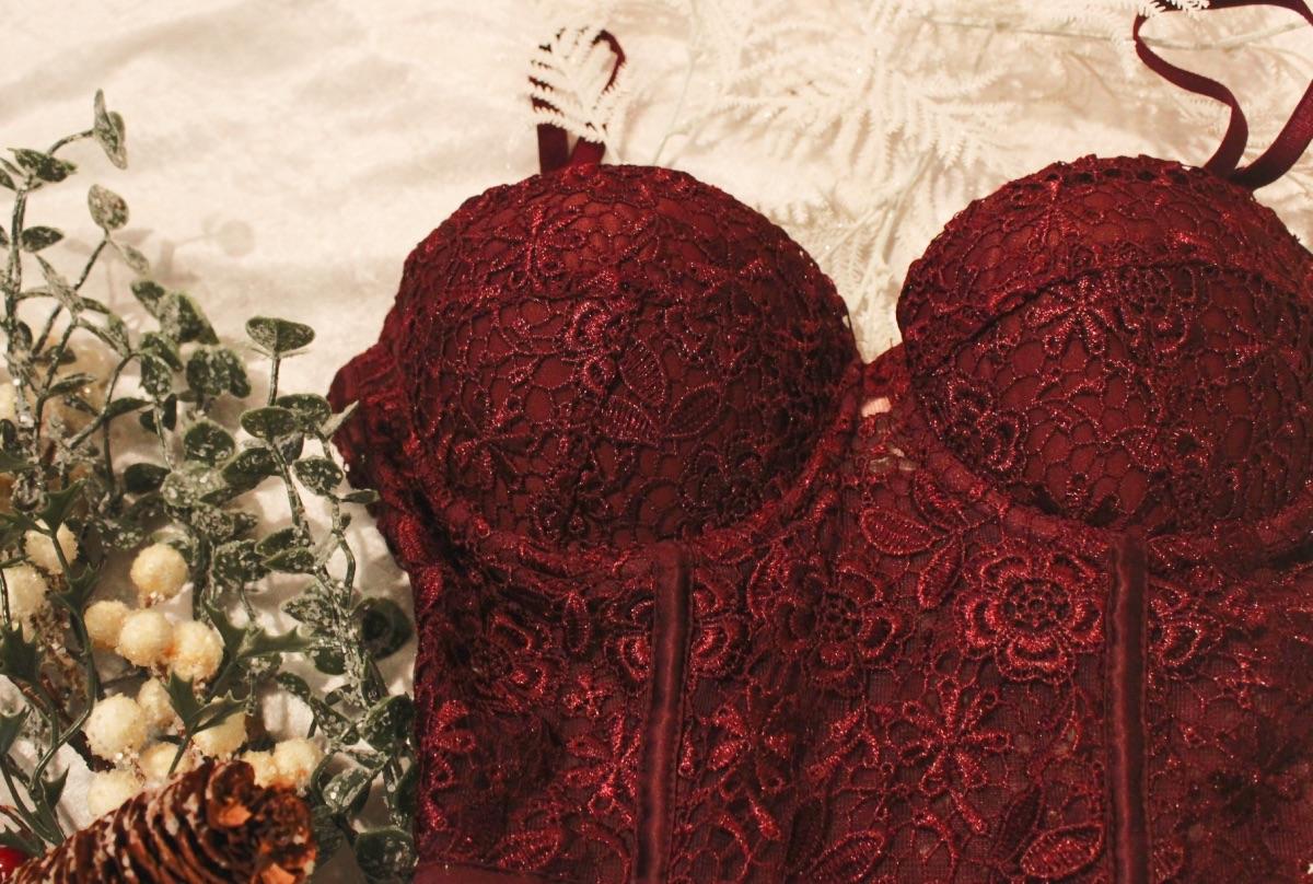 Ann Summers Willa Burgundy Lace Corset