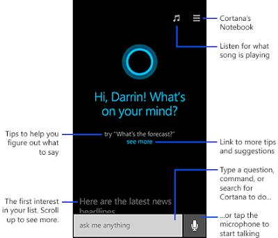 Microsoft cortana android செயலி