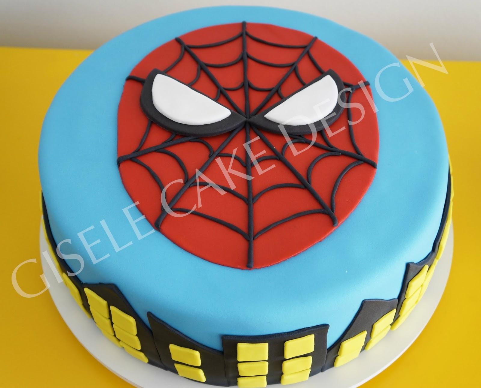 Cake Design Para Homem : Gisele Cake Design: Bolo e Cupcake Homem Aranha