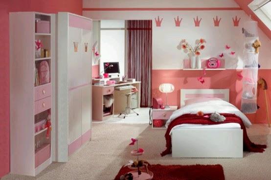 de estudio y pequeos dibujos en forma de corona de princesa para ambientar la habitacin y hacerla de ensueo para una nia with decorar dormitorio nia