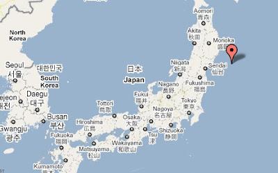 epicentro terremoto japon marzo 2011