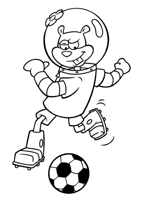 Sandy cheeks coloring pages for kids disney coloring pages for Sandy cheeks coloring pages