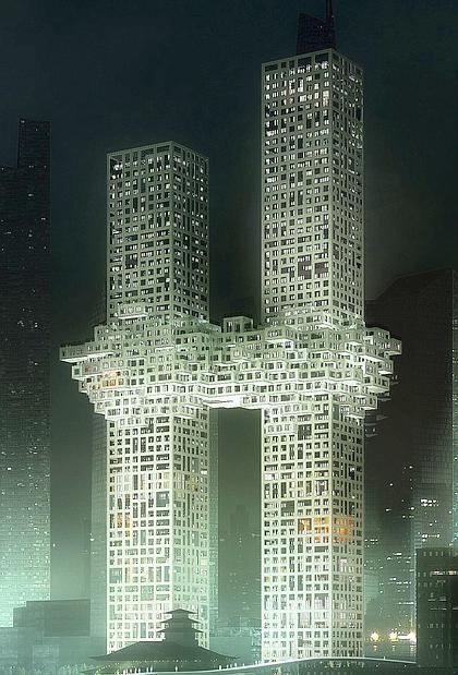 Nvp sembrano le torri gemelle bufera su progetto di seul for Piani di costruzione dell edificio